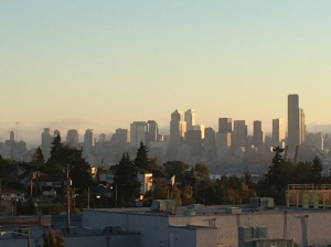 Morning view of Seattle from my apartment balcony