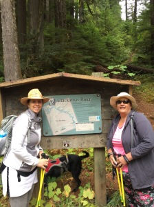 At the trailhead getting ready for our adventure.
